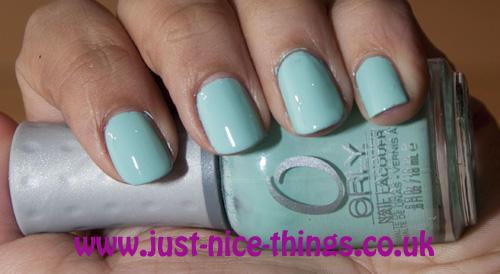Orly's Gumdrop Vs Essie's Mint Candy Apple