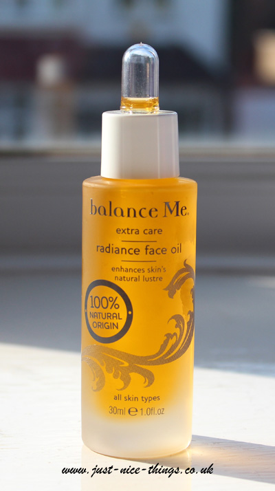 Balance Me's Radiance Face Oil