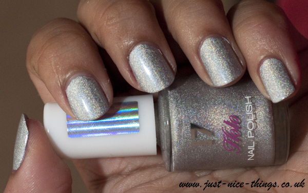 17 Holo nail polish in silver