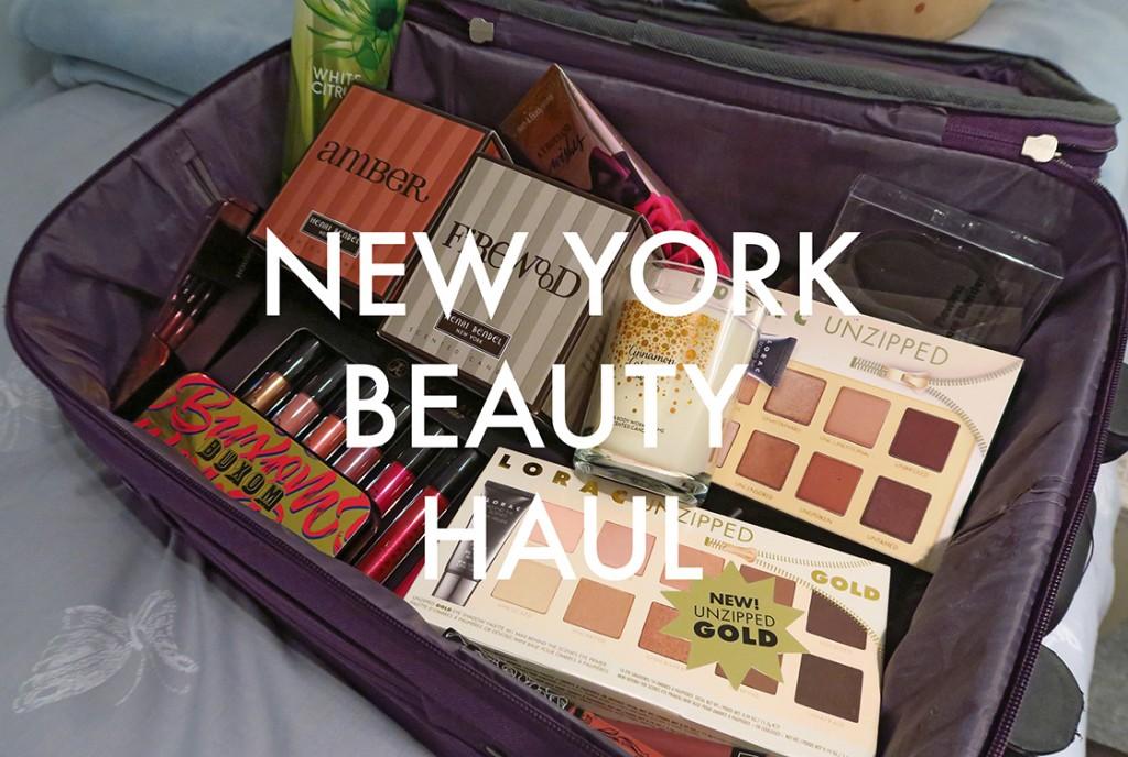 YouTube: New York Beauty Haul