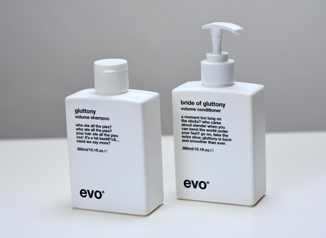 evo Gluttony Volume shampoo and conditioner