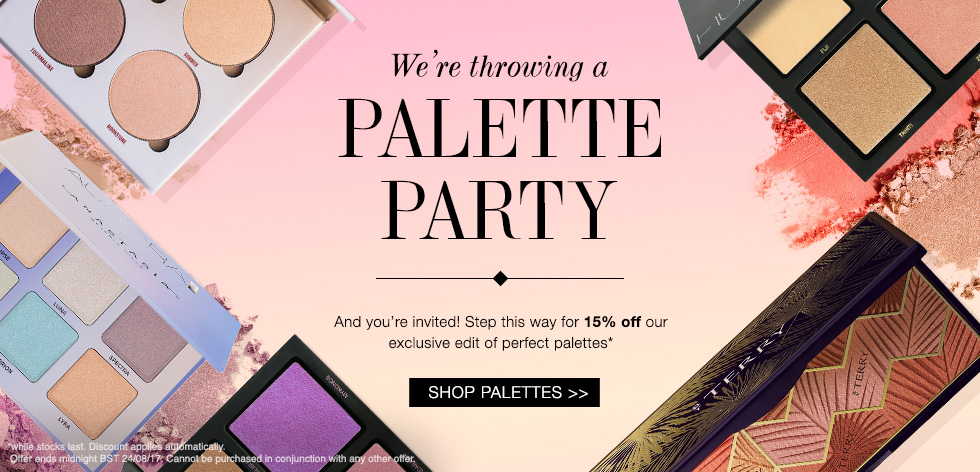 15% off palettes with Cult Beauty