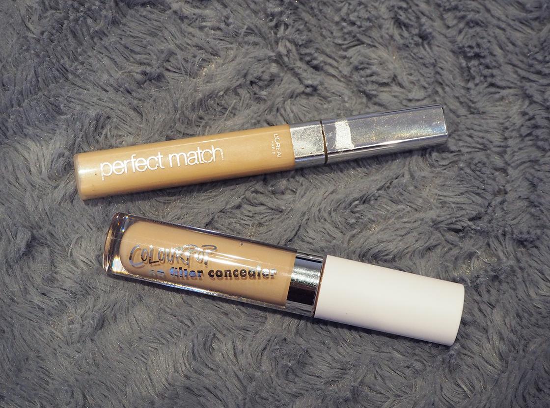 Budget Concealers: L'Oréal True Match vs Colourpop No Filter